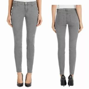 J Brand Zion Mid Rise Skinny Jeans Side Buttons